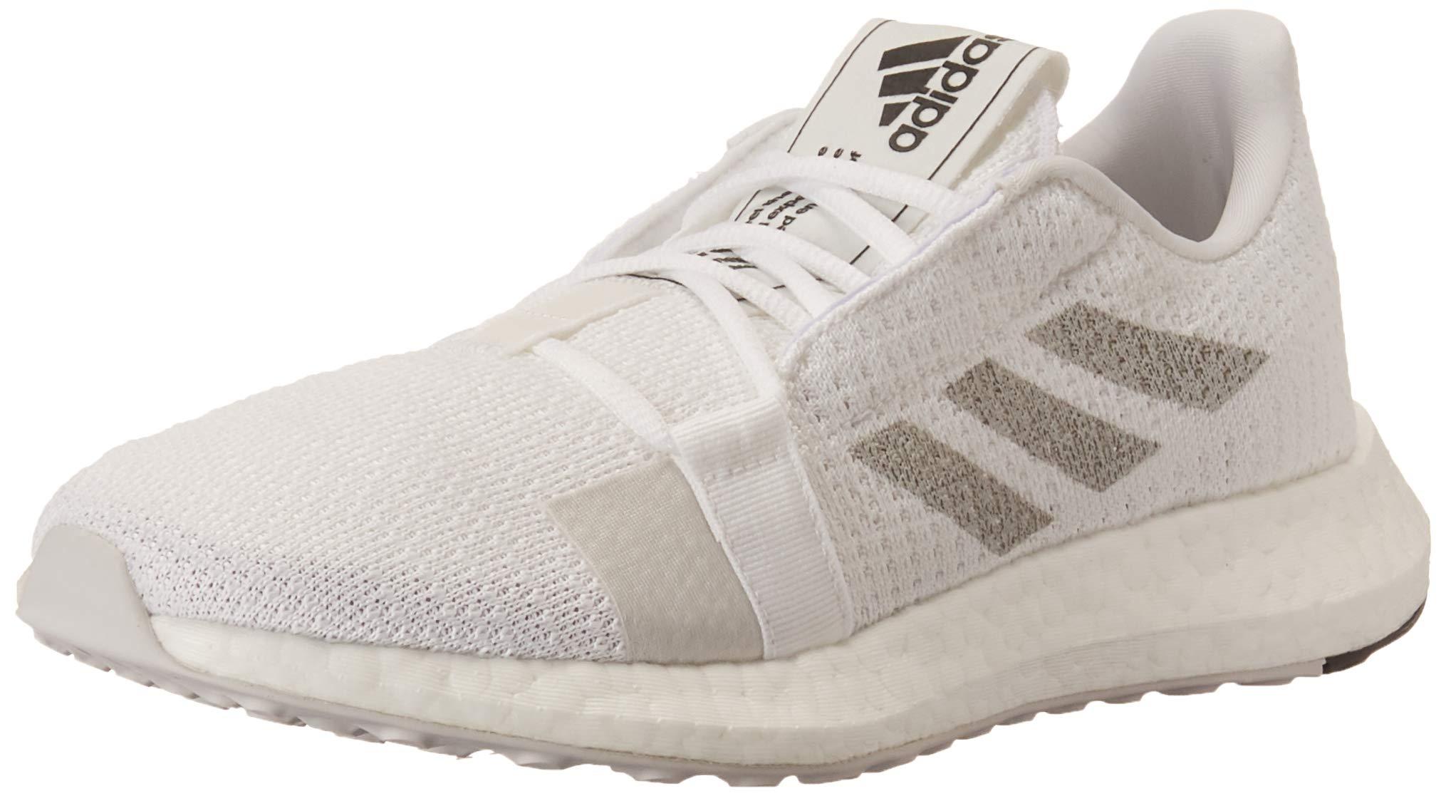 adidas Women's SenseBOOST GO Running Shoe, White/Grey/Black, 5 M US