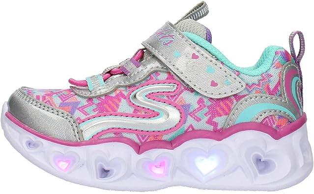 Seguro Inesperado ceja  Skechers Heart con Luces Tenis para Niñas: Amazon.com.mx: Ropa, Zapatos y  Accesorios