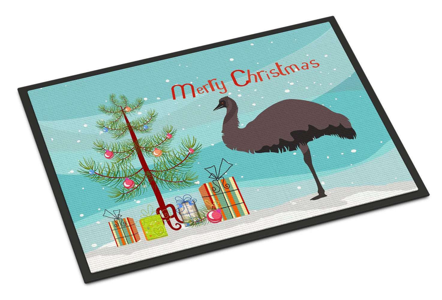 Carolines TreasuresTexas Quail Christmas Doormat 18 x 27 Multicolor