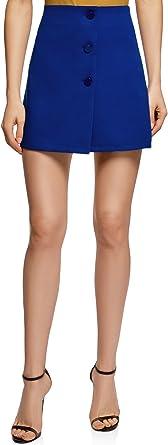 oodji Ultra Mujer Falda Trapecio con Botones Decorativos: Amazon ...