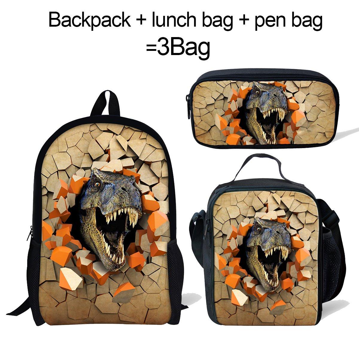 ThiKin Cute Cat Dog Animal Blue School Backpack For Boys Girls School Book Bags CA5193C_XKS