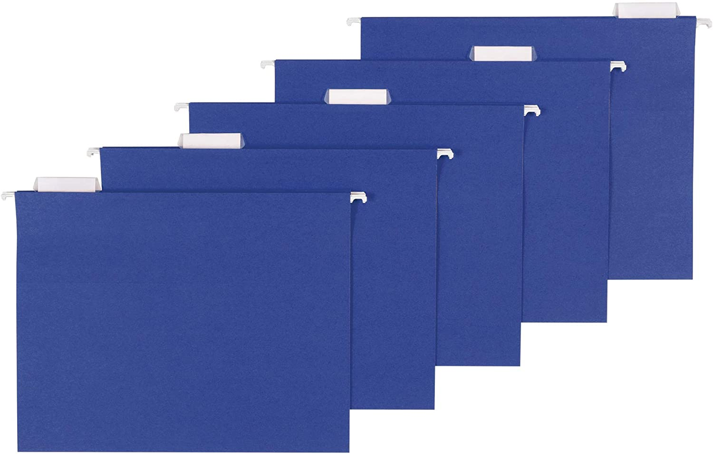 AmazonBasics Hanging Folders, Letter Size, Navy, 25-Pack