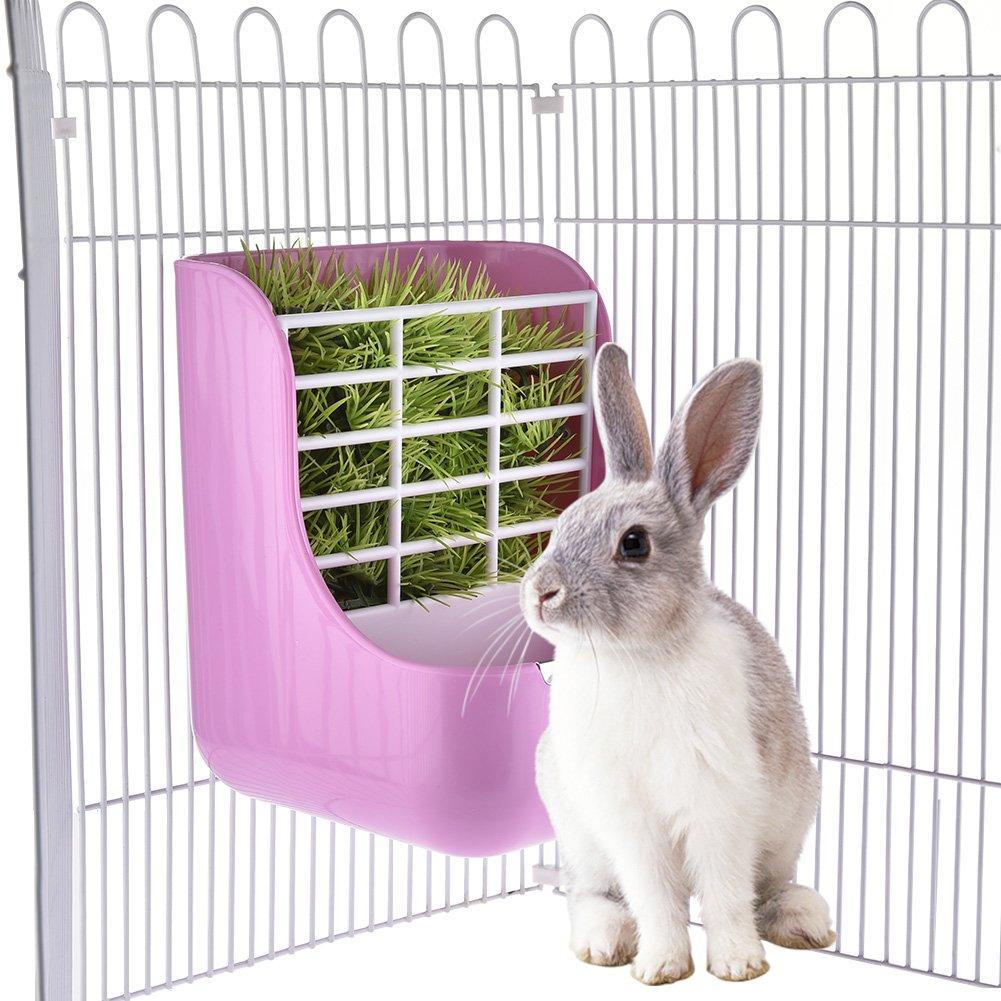 Small Animal Supplies plastica PET Rabbit/cincillà 2in 1feeder ciotole a doppio uso per erba/food Sue Supply