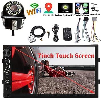 Android 5.1 Doble DIN Coche Estéreo GPS Navegación MP3 Reproductor de vídeo Radio Bluetooth 1080P Pantalla