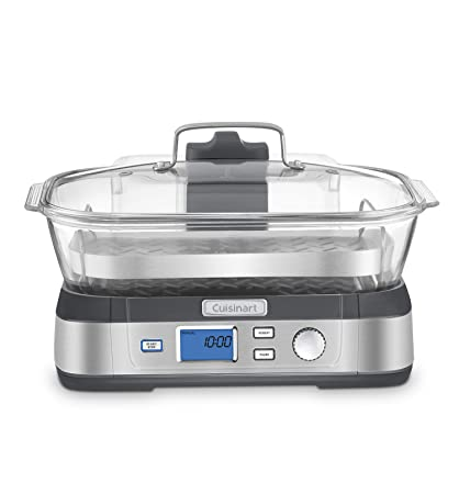 4. Cuisinart STM-1000 CookFresh Digital Glass Steamer, Stainless Steel