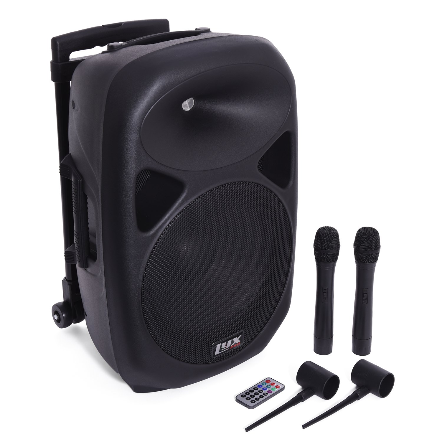 LyxPro SPA-12BAT Battery Powered Active Speaker Portable PA System Built In EQ & Rechargeable Battery, Bluetooth, MP3, USB, SD, 1/4'', 3.5mm by LyxPro (Image #4)