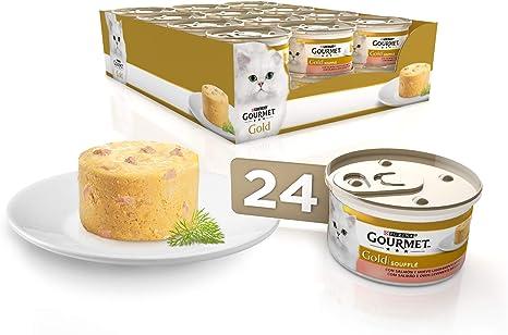 Purina Gourmet Gold Soufflé comida para gatos con Salmón 24 x 85 g ...