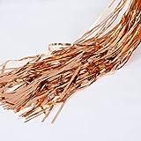 FECEDY 2pcs 3ft x 8.3ft Rose Gold Metallic Tinsel