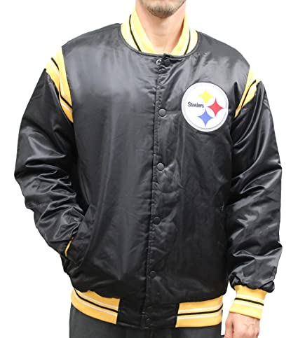 Image Unavailable. Image not available for. Color  STARTER Pittsburgh  Steelers NFL Men s The Enforcer Premium Satin Jacket 1d671e8e3
