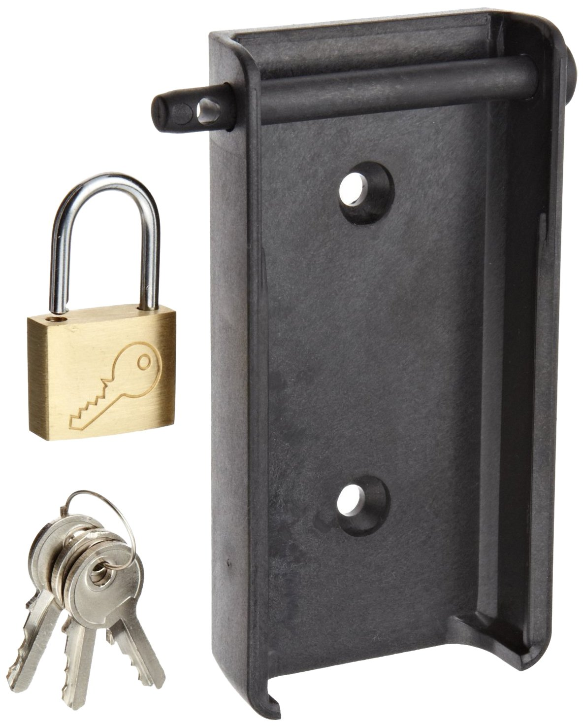 Testo 0554 1703 Wall Holder with Padlock for 176 Data Loggers Black