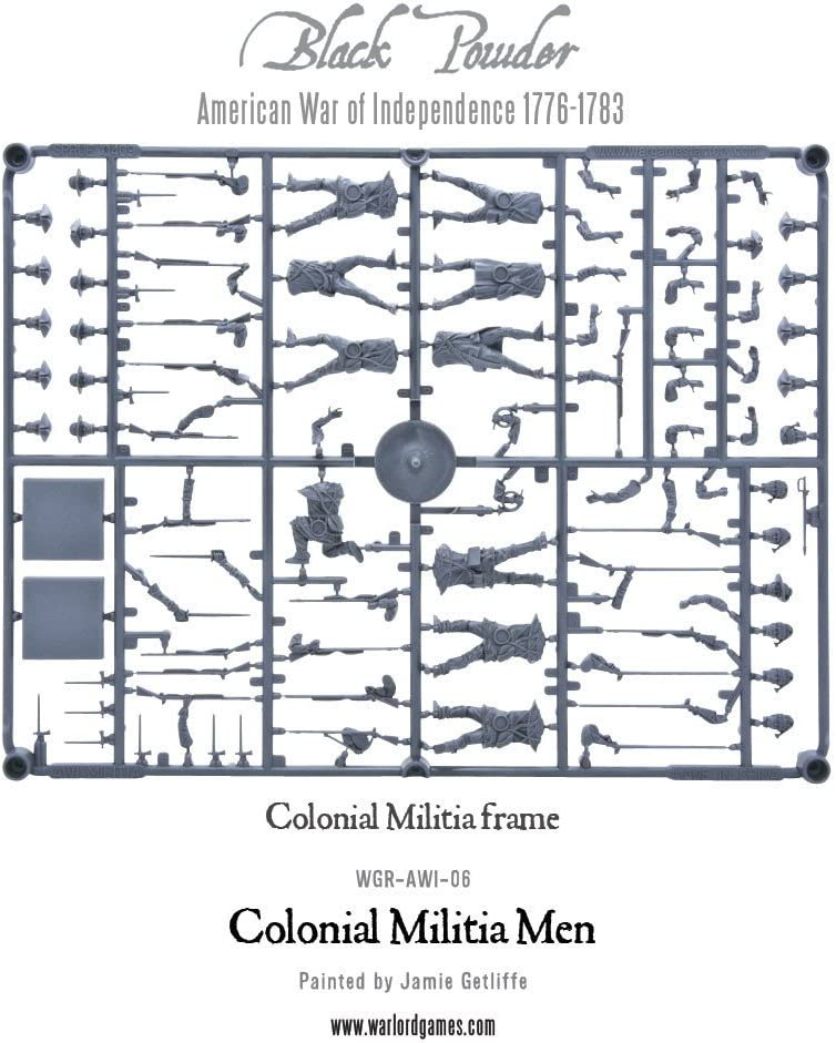 WGR-AWI-06 Black Powder 28mm American War of Independence Colonial Militia Men