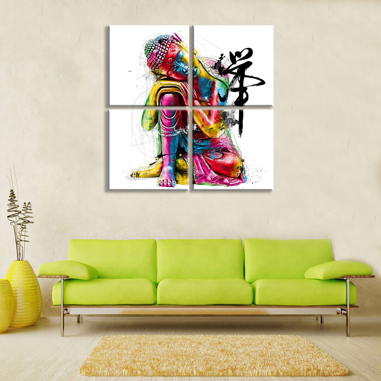 Amazon.com: Buddha Wall Art Canvas Prints Art Home Decor for Living ...