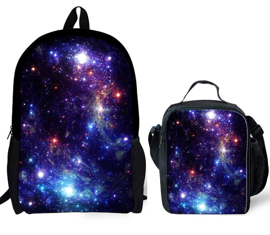 7bafabe031b03 Top1: Backpack Lunch Bag Set Galaxy Animal Print for Girl School Teen  Children Travel Daypack