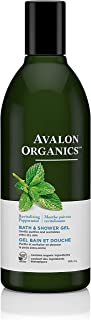 product image for Avalon Organics Bath & Shower Gel, Revitalizing Peppermint, 12 Oz