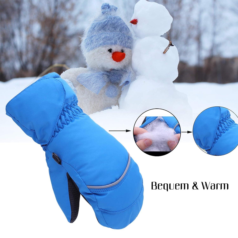 626fadc8dfded8 Stynice Handschuhe Kinder Wasserdichte und Winddichte Warm Fäustlinge  Skihandschuhe Jungen Mädchen für Outdoor Sport