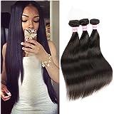 Beautier Straight Brazilian Human Hair Extension 3 Bundles 100% 6a Unprocessed Virgin Hair Natural Black