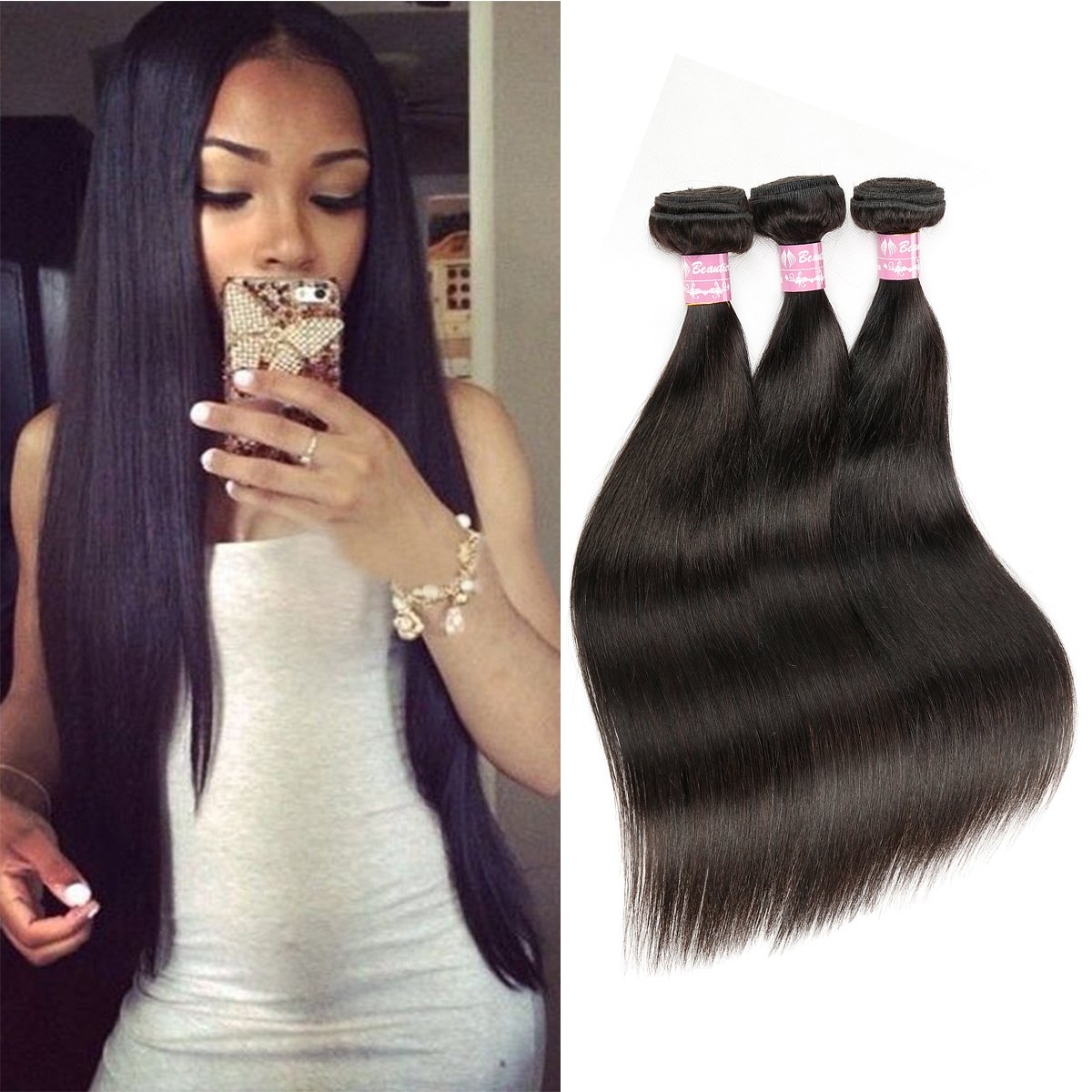 Amazon Beautier 6a Straight Hair 3 Bundles Virgin Unprocessed