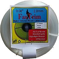 FASTRIM Round Plastic Nylon Trimmer Line Grass Cutter, White