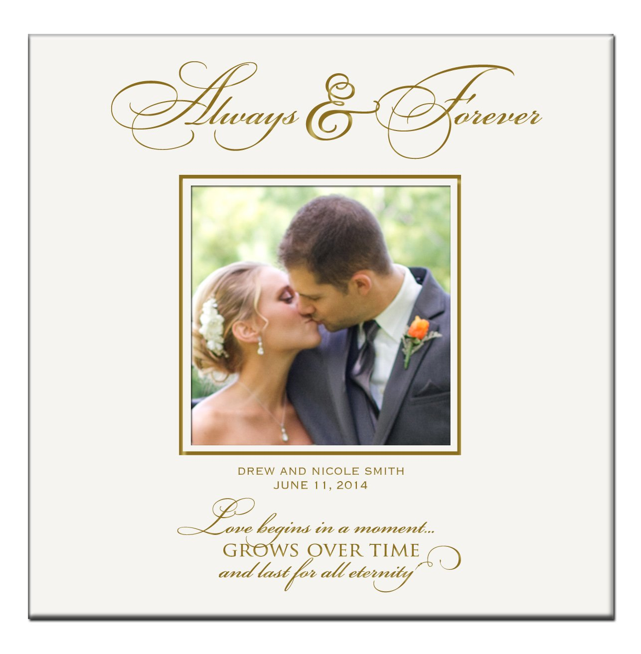Personalized Wedding Anniversary Photo Albums Gifts Always & Forever Love Begins in a Moment Holds 200 4x6 Photos