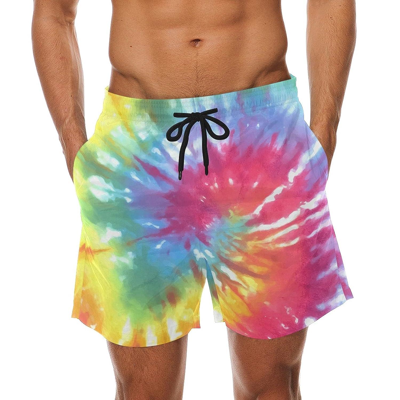 Summer Mens Hawaiian Beach Shorts Casual Loose Wading Surfing Shorts Fast-dry