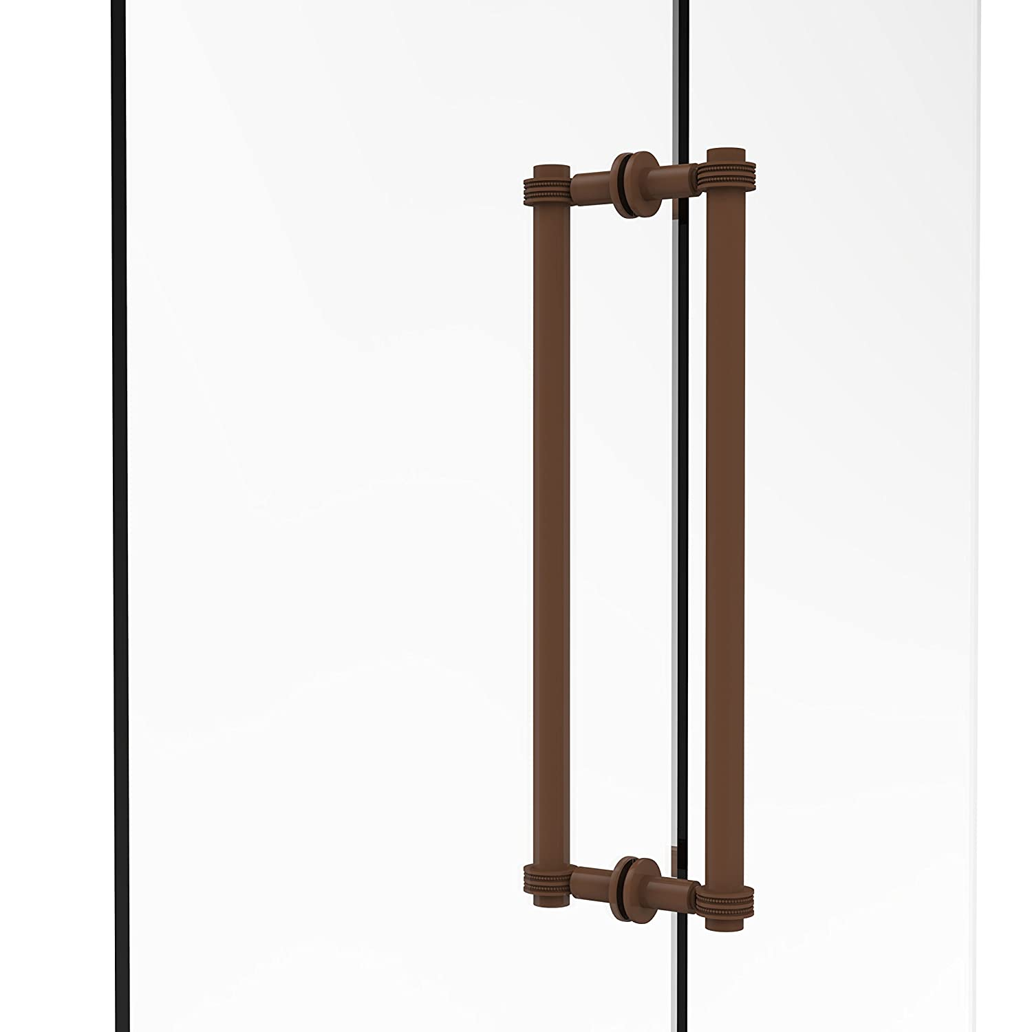Allied Brass 404D-18BB-ABZ Contemporary 18 Inch Back Shower Door Pull with Dotted Accent Antique Bronze