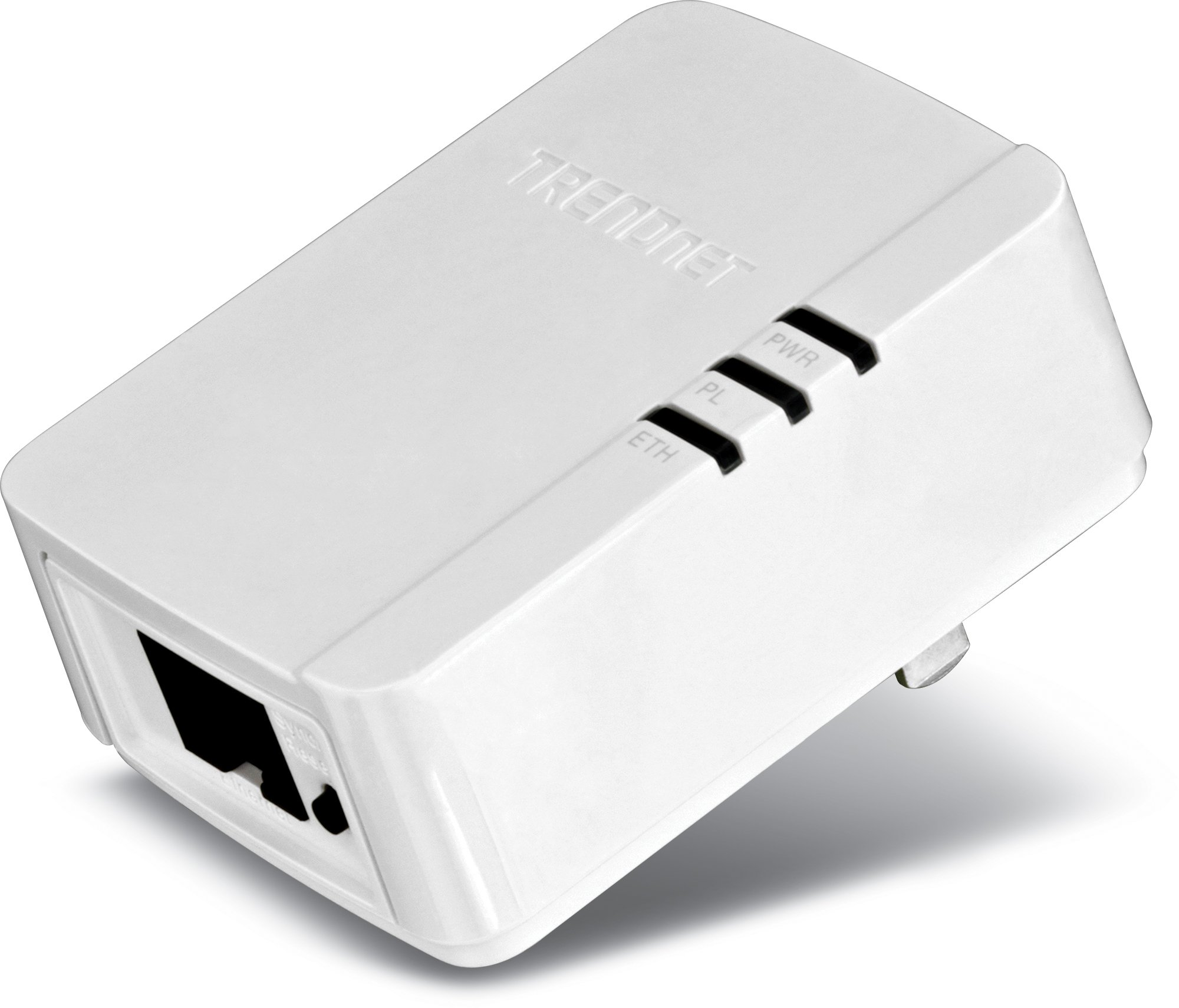 TRENDnet Powerline AV200 Mini Network Single Adapter, up to 200 Mbps over existing electrical lines, TPL-308E by TRENDnet