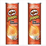 Pringles Nissin Top Ramen Chicken Flavored! 2 Pack! LIMITED TIME ONLY! NEW! Delicious! 5.5oz!