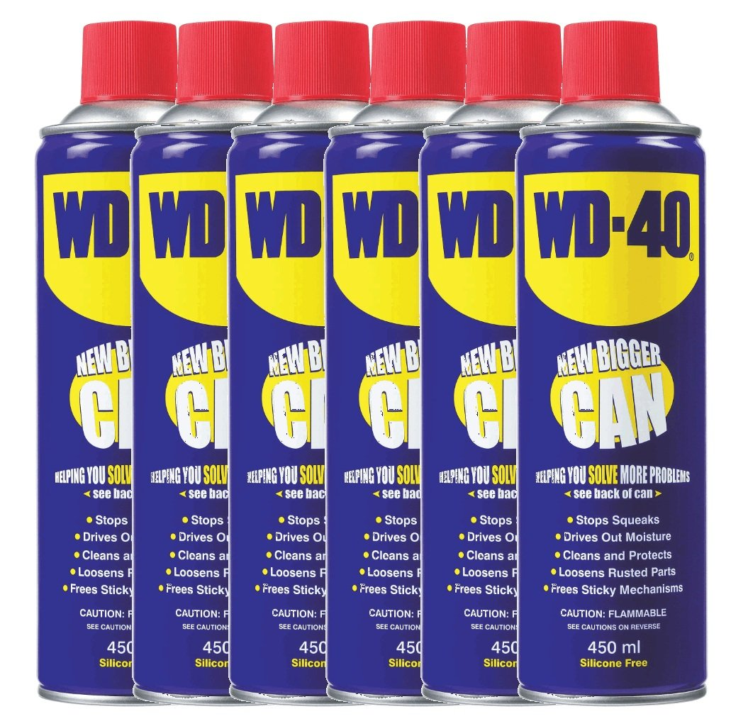 WD40 Spray Can 450ml x 6 Penetrant Lubricant Releasant Oil WD-40