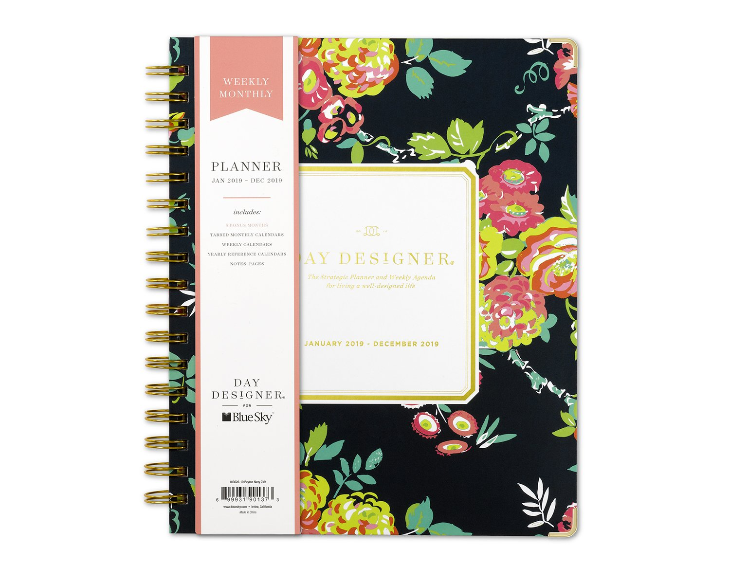 graphic about Day Designer named Working day Designer for Blue Sky 2019 Weekly Regular monthly Planner, Hardcover, Dual-Twine Binding, 7\