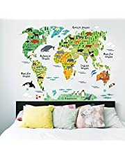 CTGVH Pegatinas de Pared Dormitorio Simple Pegatina de Pared TV decoracione de Fondo PVC DIY decoración para el hogar Sala de Estar para niños decoración de la Pared,Mapa del Mundo
