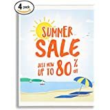 """Acrylic Wall Mount Sign Holders [4 pack], 8.5 x 11"""" Acrylic Frames. Easy Mounting With Hook and Loop Tape. Door, Window Sign Holder. Paper Signs, Flyers, Documents. Mount Vertical or Landscape."""
