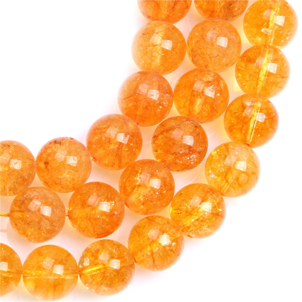 SHGBeads Dyed Citrine Crystal Gemstone Loose Beads Faceted 10mm Beads for Cambay Energy Stone Healing Power for Jewellery Making 15