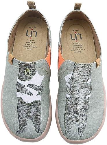 Amazon.com: UIN - Zapatos mocasines de lona para mujer ...
