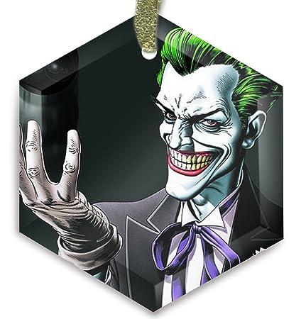 Joker Christmas Ornament.Batman Joker 8 Ball Crystal Christmas Ornament Amazon Co Uk