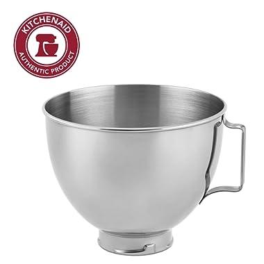 KitchenAid Stainless Steel Bowl K45SBWH, 4.5-Quart, Silver