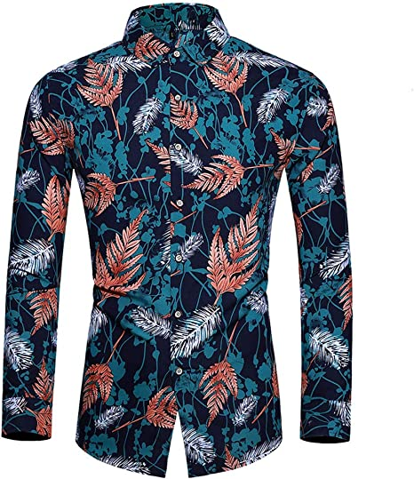 PARTY SUIT T-Shirt Longsleeve Allover Print Costume Tee S-2XL