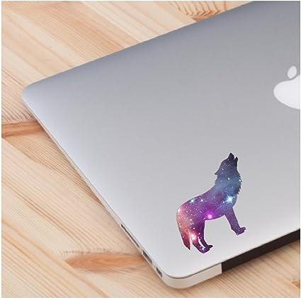 Amazon com: Cosmic Wolf spirit animal laptop decal love skin laptop