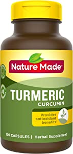 Nature Made Turmeric 500 mg Capsules, 120 Count for Antioxidant Support† (Packaging May Vary)