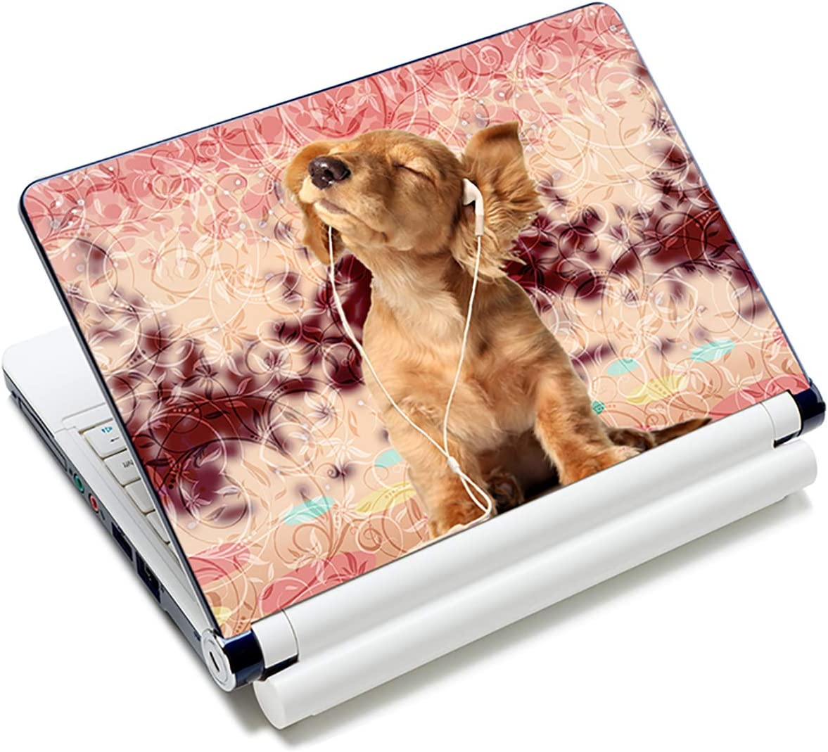 "Laptop Skin Vinyl Sticker Decal, 12"" 13"" 13.3"" 14"" 15"" 15.4"" 15.6 inch Laptop Skin Sticker Cover Art Decal Protector Fits HP Dell Lenovo Compaq Apple Asus Acer (Cute Dog)"