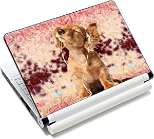 """Laptop Skin Vinyl Sticker Decal, 12"""" 13"""" 13.3"""" 14"""" 15"""" 15.4"""" 15.6 inch Laptop Skin Sticker Cover Art Decal Protector Fits HP Dell Lenovo Compaq Apple Asus Acer (Cute Dog)"""