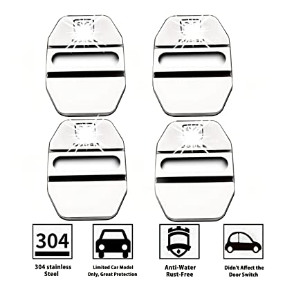 LFOTPP 4PCS Dodge Stainless Steel Car Door Lock Latches Cover Protector for Challenger Charger  sc 1 st  Amazon.com & Amazon.com: LFOTPP 4PCS Dodge Stainless Steel Car Door Lock Latches ...