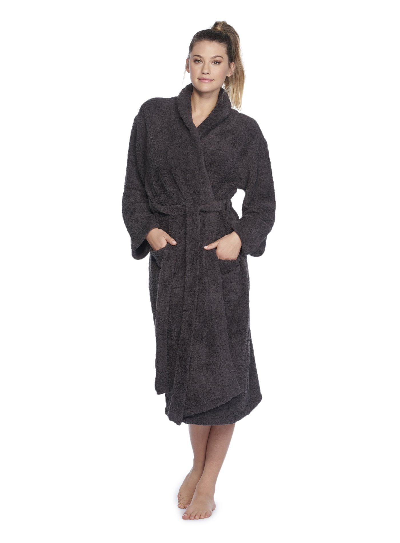 Barefoot Dreams CozyChic Adult Robe (1, Carbon)