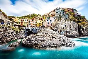 Manarola Cinque Terre Italy Amalfi Coast Positano Mediterranean Sea Beautiful View European Landscape Photo Photograph Cool Wall Decor Art Print Poster 18x12