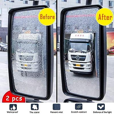 Anti Fog Film Car Rear View Mirror Waterproof Film Protective Film Anti Glare Rain-Proof Anti Water Mist, HD Nano Film Anti-Glare,Anti-Scratch,Rainproof: Automotive