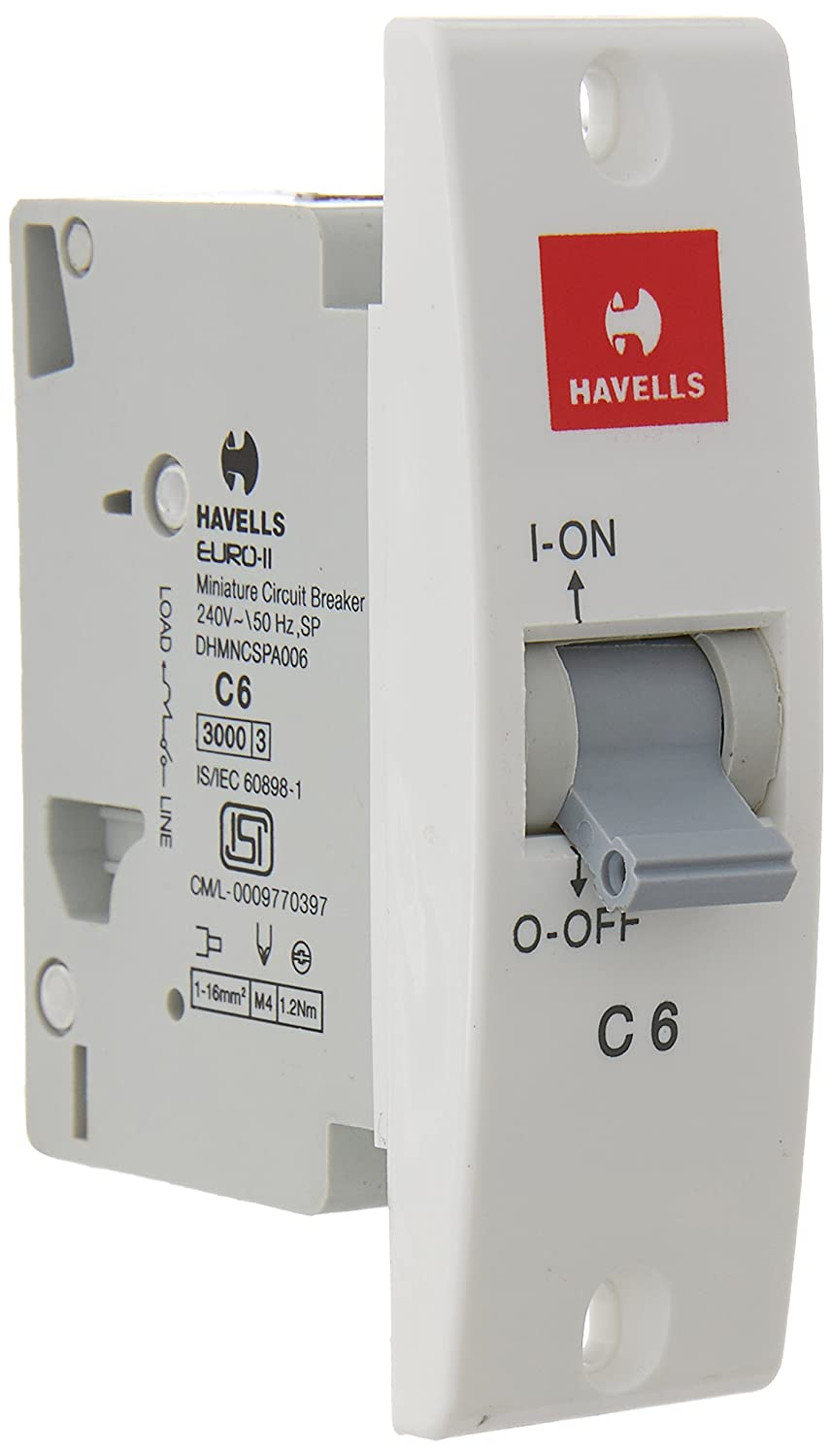 Buy Havells Dhmncspa006 Pvc Plastic 6a Sp C Mini Mcb White Online Breakers Load Centers Fuses Circuit Miniature At Low Prices In India