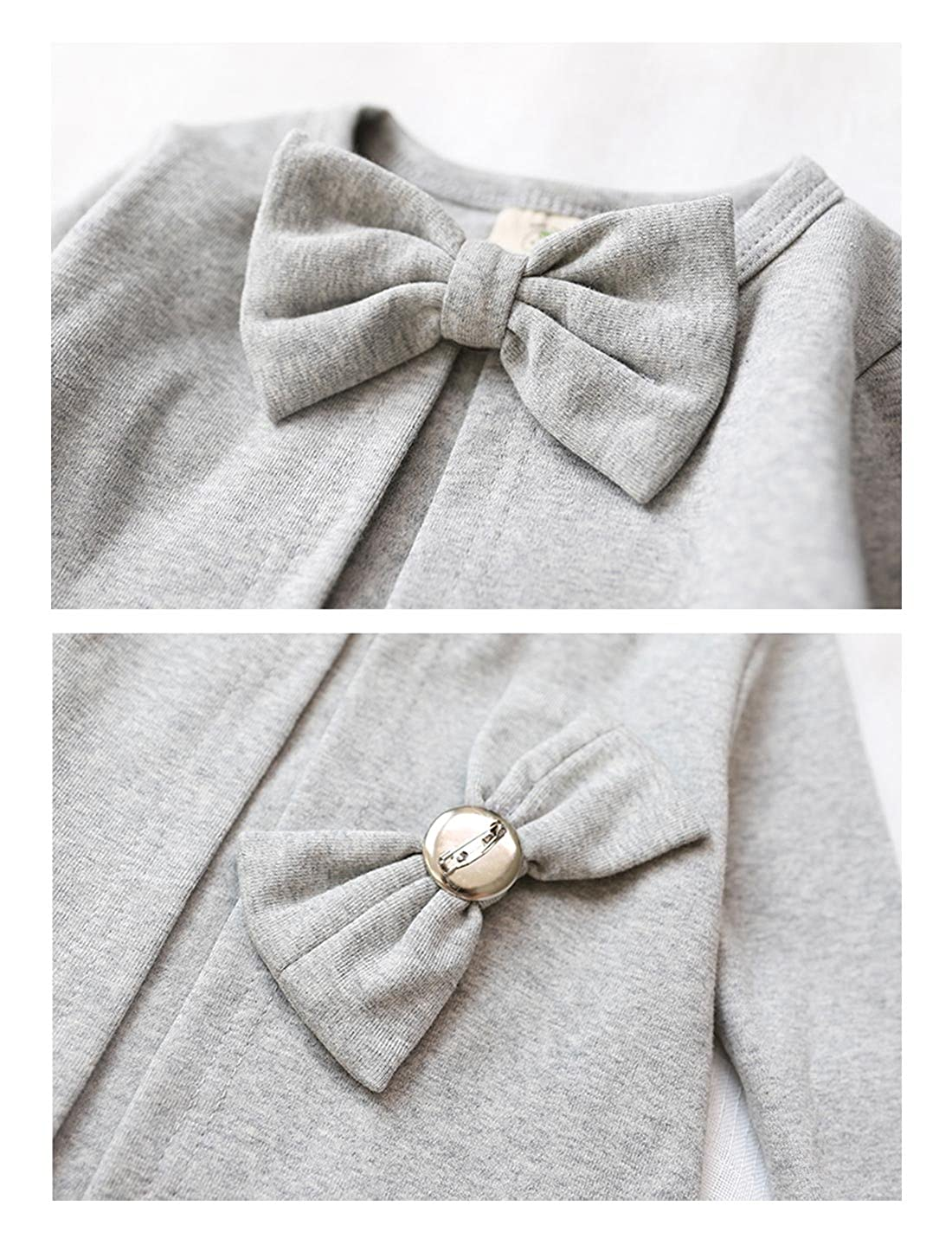 Kacakid 100/% Cotton Winter Outerwear Cardigan Style Cute Bowknot Outerwear Coat