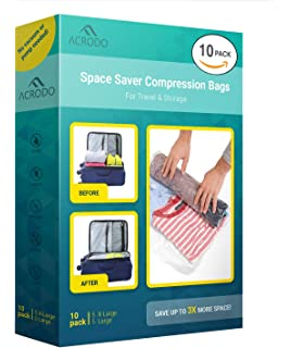 Acrodo Space Saver Travel Bags for Clothes - 10-pack for Compression  Packing Organizer   ae92b2f8bb5d8