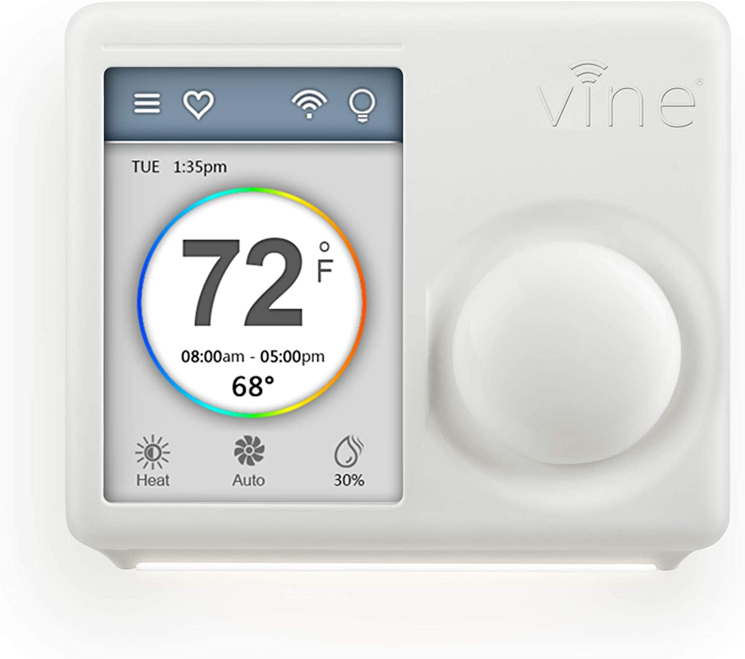 Vine Smart Wi-Fi Programmable Home Thermostat, 4th Gen, Compatible with Alexa