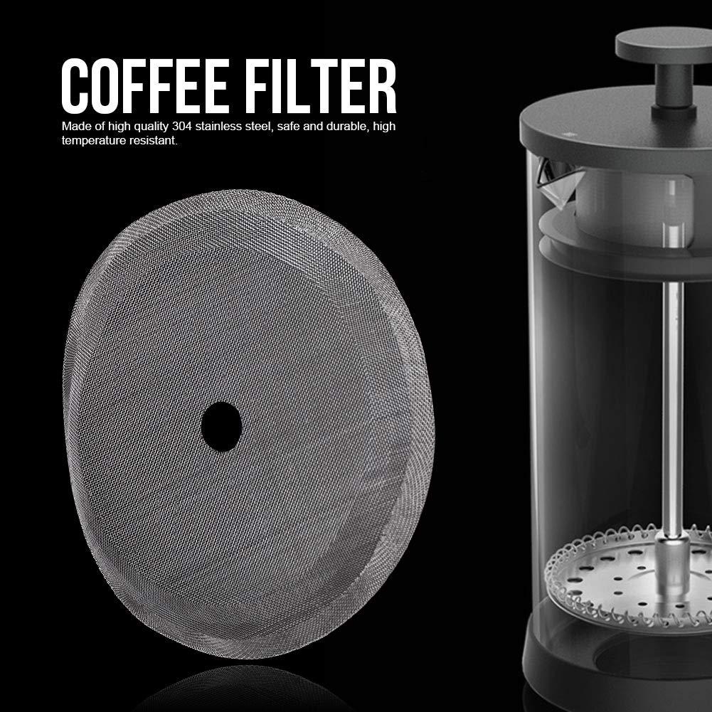 Gojiny 5-Teiliges Filtersieb Ersetzt Gebogene Und Abgenutzte Franz/ösische Siebdruckgitter Tragbares Abnehmbares Kaffeekannen-Mesh-Filterzubeh/ör f/ür 800 Ml