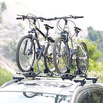 New Model 4x Alu Cycle Carrier Roof Mounted Bike Bicycle Car Rack Holder Lock